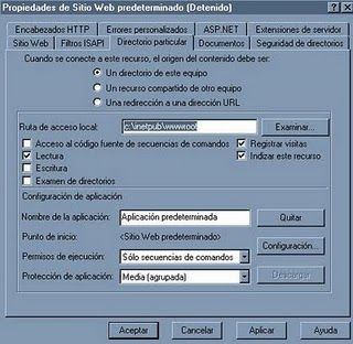 directorio local IIS para paginas html