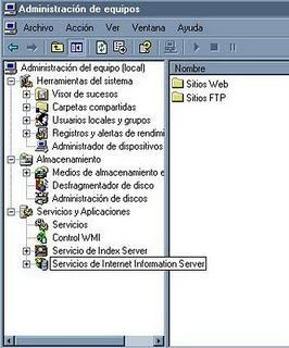 Configurar servidor local IIS en Windows