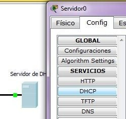 Configurar pool DHCP | Packet Tracer