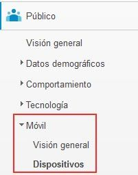 Dispositivos movil Analytics