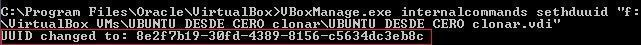 vBoxManage.exe setuuid