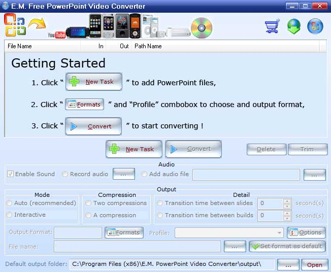 convertir powerpoint a video - EM Free PowerPoint Video Converter