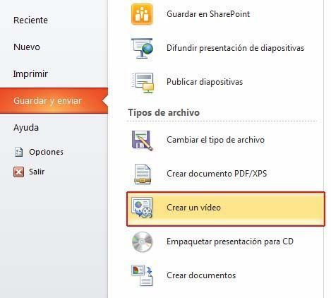Crear video powerpoint
