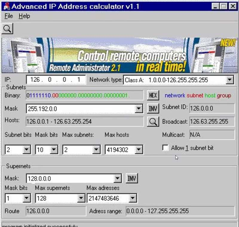 descargar calculadora advanced ip address calculator