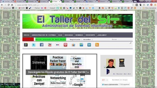 El Taller del Bit version Geocities