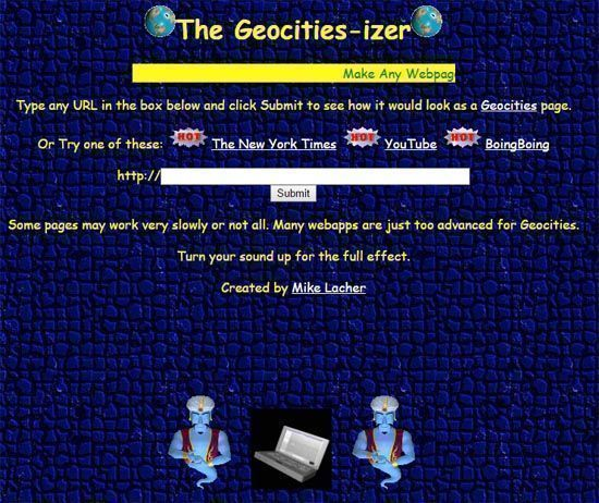 Transforma tu Web al estilo GeoCities
