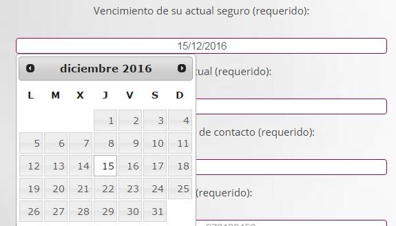 contact form 7 datepicker campo fecha