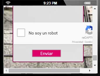 google recaptcha no responsive resolucion 320-240