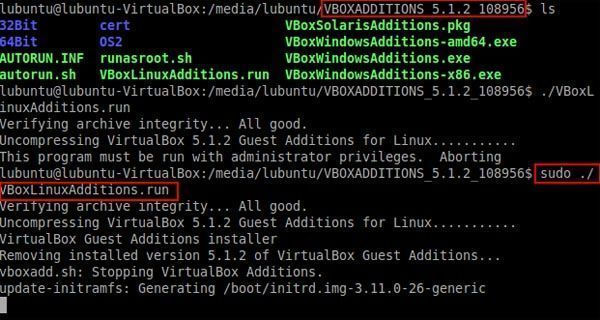 instalar guest additions-sudo VBoxLinuxAdditions.run