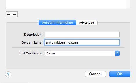 servidor smtp mail apple