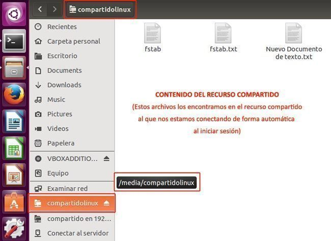 conectar recurso compartido Windows en Linux