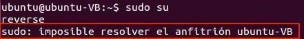 sudo imposible resolver el anfitrion