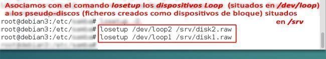 losetup asociar dispositivos loop a dispositivos de bloque