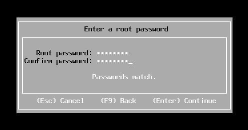 esxi enter a root password