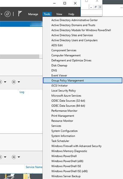 group policy management - windows server 2016