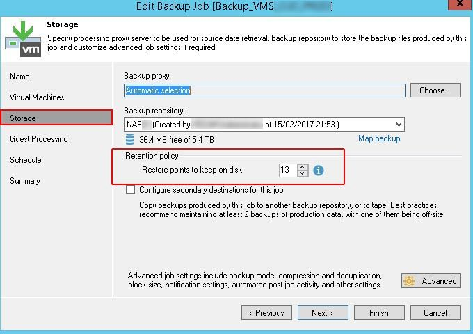 Eliminar Backups de Veeam