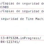 tmutil | Gestionando copias seguridad Time Machine