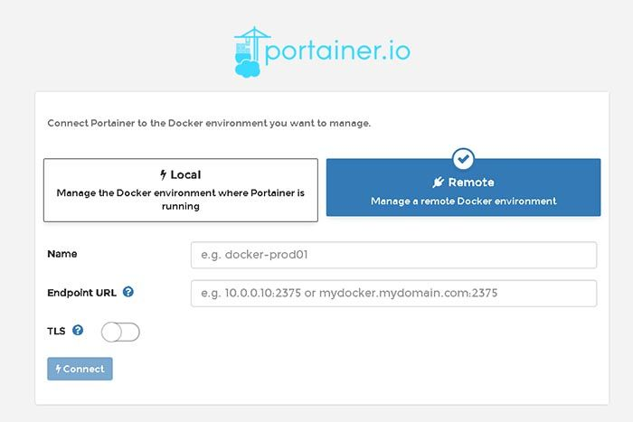 portainer local-remote