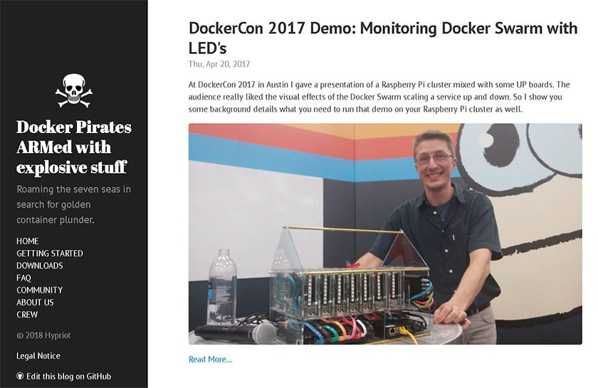 Hypriot docker blog