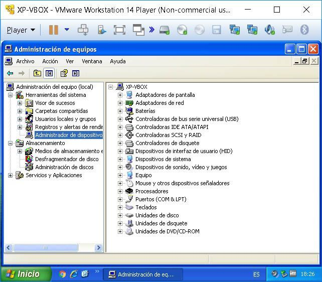 vmware player maquina virtualizada