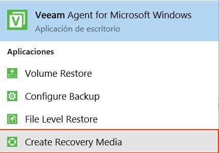 veeam create recovery media