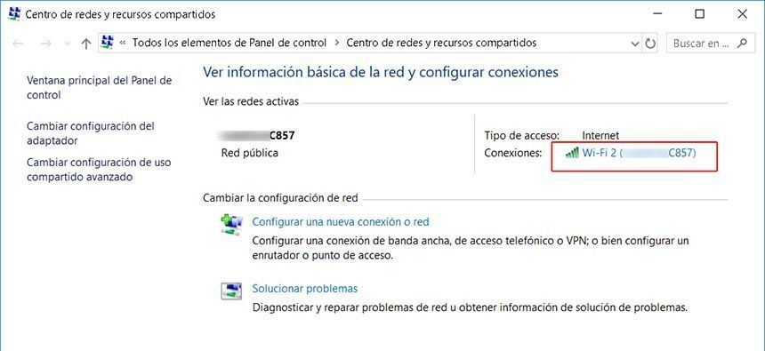 windows 10 centro de redes y recursos compartidos