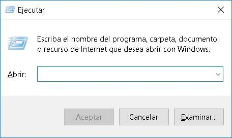 windows ejecutar -- tecla Win + R