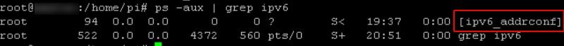raspberry sysctl.conf ipv6 sigue activo