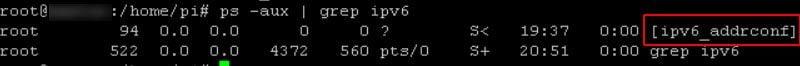 raspberry sysctl.conf ipv6 sigue activo