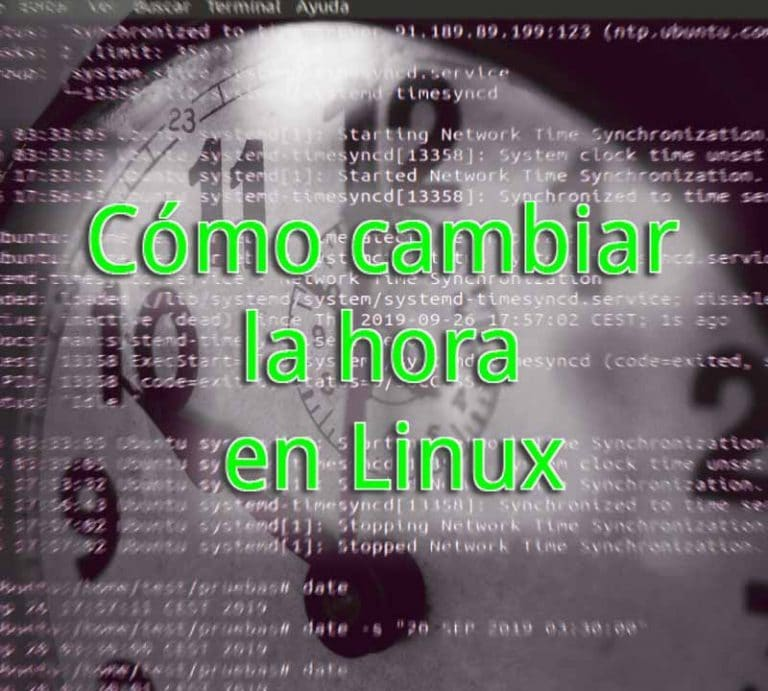 cambiar hora linux