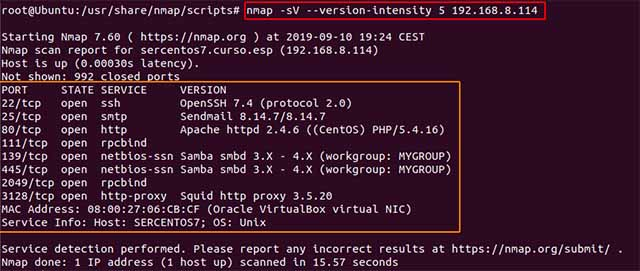nmap --version-intensity