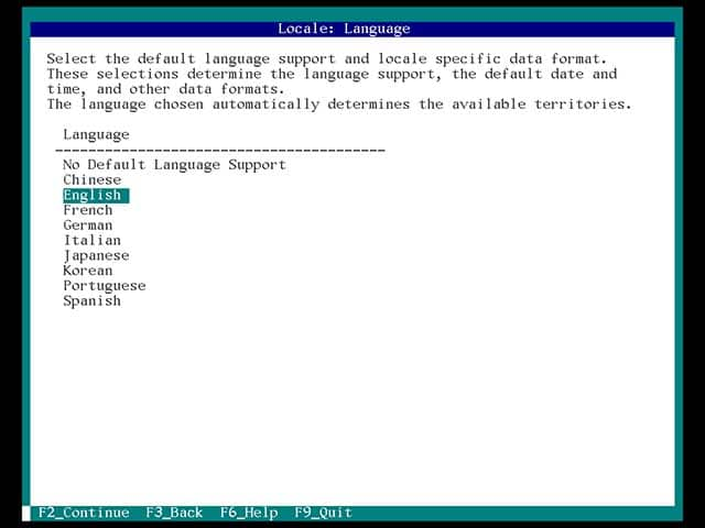 solaris select the default language support and locale specific data format
