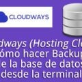 cloudways hosting cloud hacer backup base datos wordpress