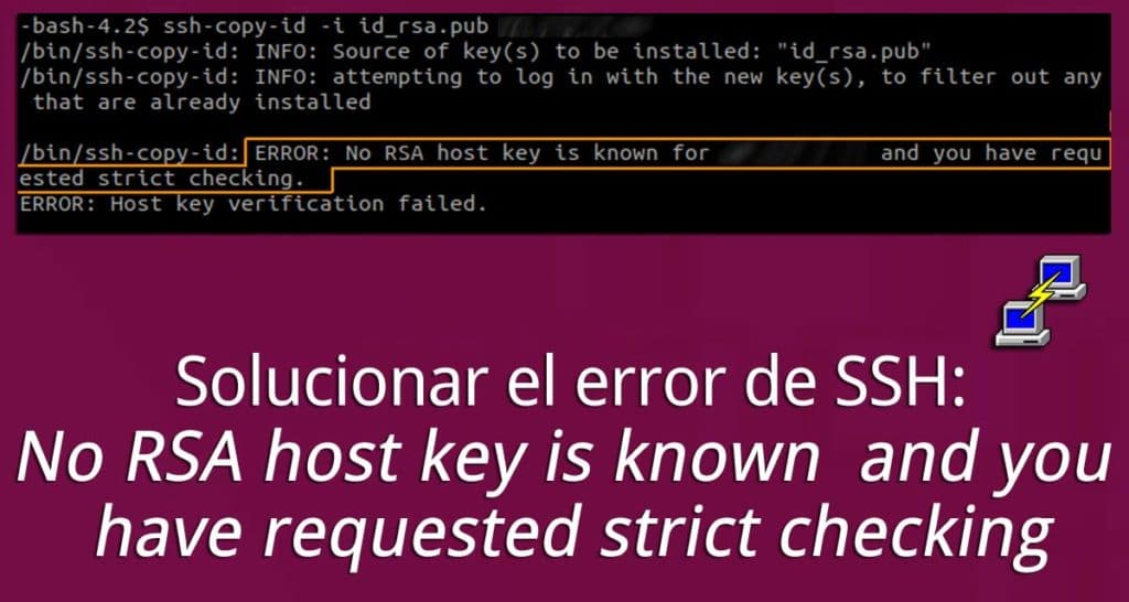No RSA host key is known and you have requested strict checking